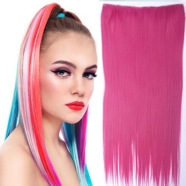 Clip in vlasy - 60 cm dlouhý pás vlasů - růžová PEACH PINK