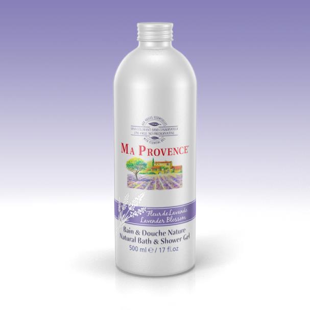 Bio sprchový gel a pěna do koupele 2v1 Ma Provence Levandule, 500ml