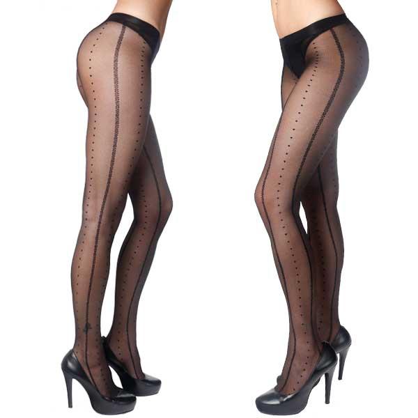 Dámská móda a doplňky - Dámské punčochové kalhoty LANGSHA s módním vzorem  ... 79ae53f783