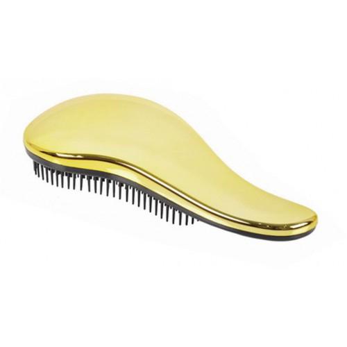 Detangler Gold rozčesávací hřeben na vlasy s rukojetí zlatý