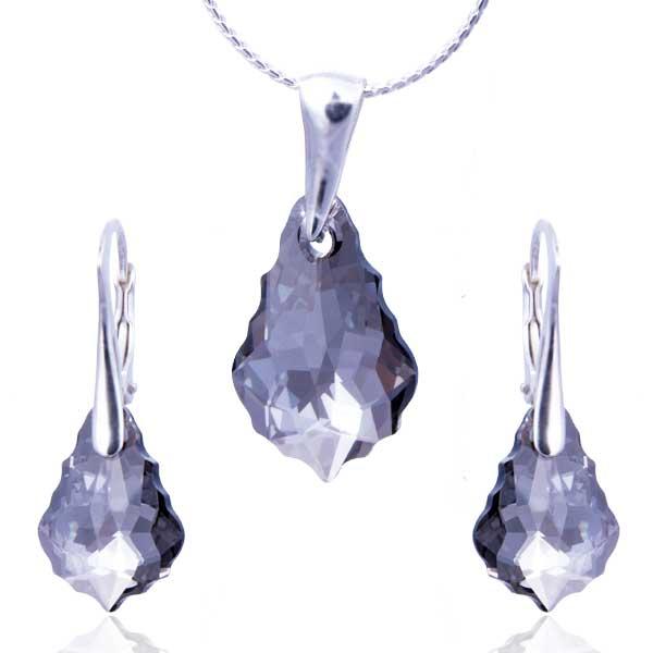 Stříbrná souprava Swarovski elements – Baroko Crystal Satin (Crystal Satin) S274533694I