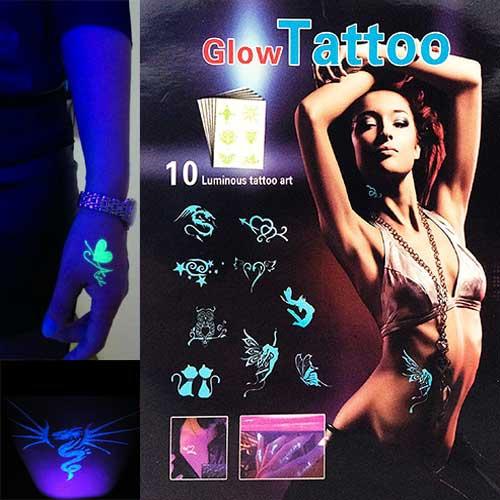 Svítící tattoo - nalepovací UV tetování