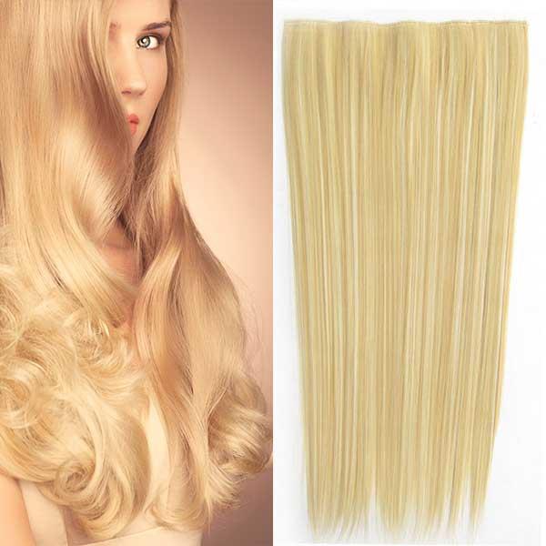 Clip in vlasy - 60 cm dlouhý pás vlasů - odstín F 613/22 - mix blond