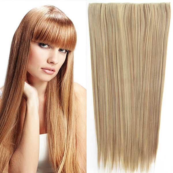 Clip in vlasy - 60 cm dlouhý pás vlasů - F 12/24 - melír