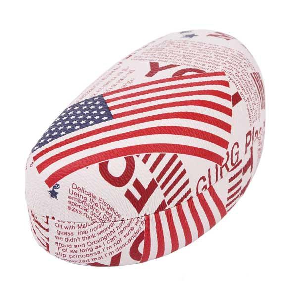 Pouzdro na brýle AMERIKA - výběr barev - bílé s červeným popisem