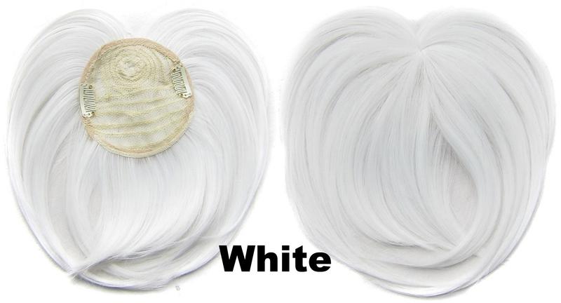 Clip in ofina na vrchol hlavy - odstín bílý