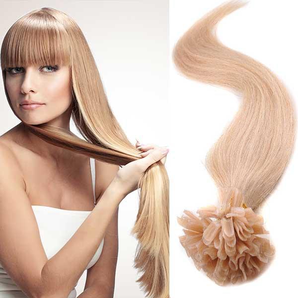 Vlasy keratin kvalita Remy AAA 51 cm, 100 ks - odstín 27 (27 (karamelová)) - Světové Zboží