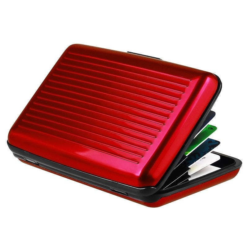 Pouzdro na doklady a peněženka Aluma Wallet - červená barva
