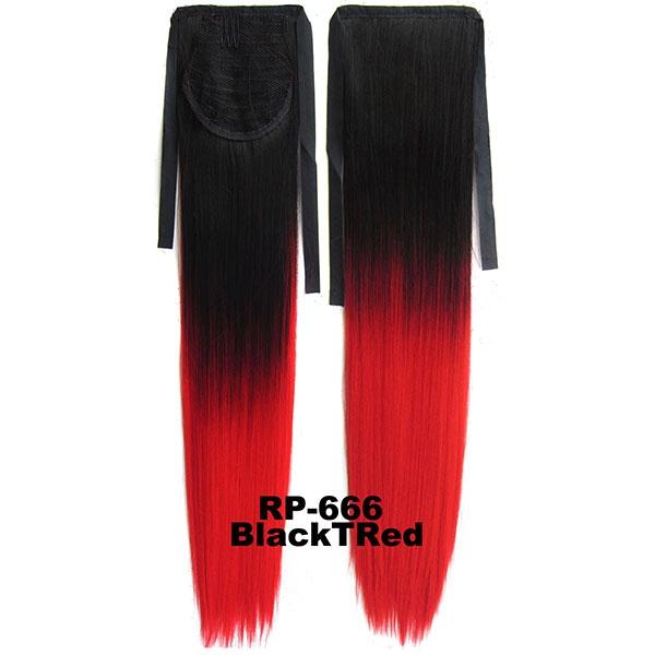 Světové Zboží Culík, cop rovný na zavazování 57 cm - ombre styl (odstín Black T Red)