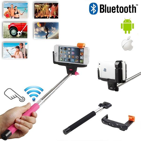 Teleskopická selfie tyč s vestavěným bluetooth ovládáním