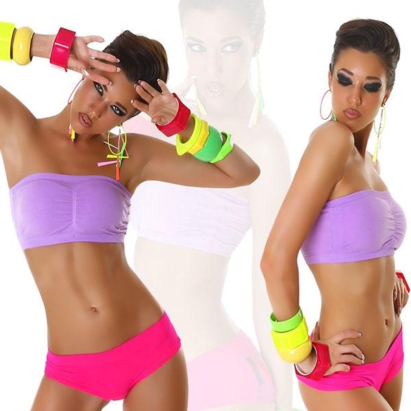 Sportovní podprsenka s vycpávkami - fialová - velikost L