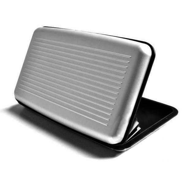 Velké pouzdro na doklady a platební karty Aluma Wallet - stříbrná barva