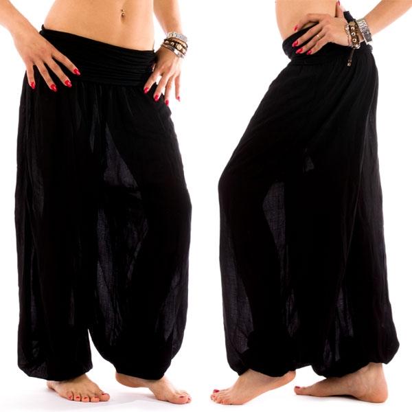 Harémové kalhoty Shakira - černé - černá barva