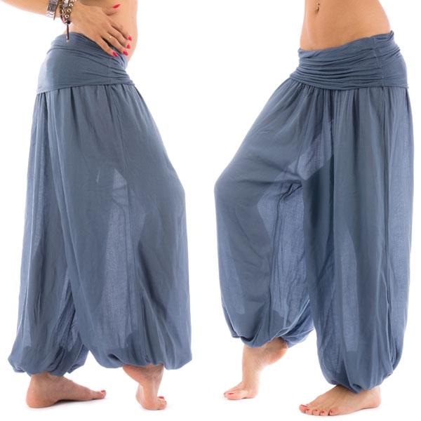 Dámská móda a doplňky - Harémové kalhoty Shakira - modrá barva ... 2e9abd1b7b
