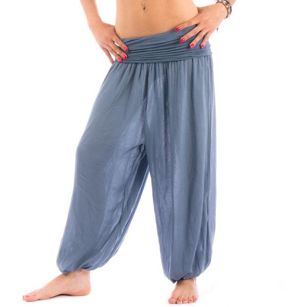 ... Dámská móda a doplňky - Harémové kalhoty Shakira - modrá barva ... 308b215364