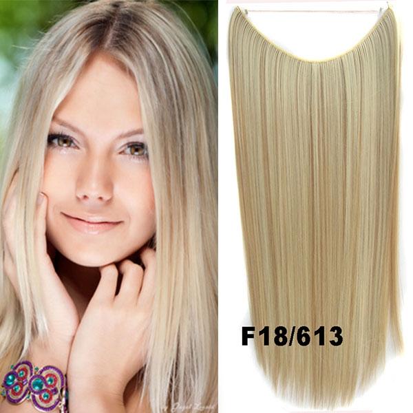 Flip in vlasy - 55 cm dlouhý pás vlasů - odstín F18/613