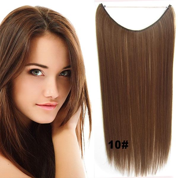 Prodlužování vlasů a účesy - Flip in vlasy - 55 cm dlouhý pás vlasů - odstín  ... 02a1501bff