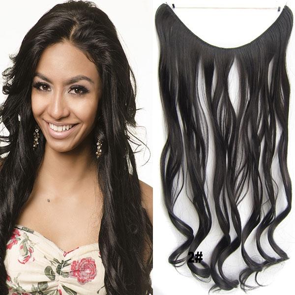 Flip in vlasy - vlnitý pás vlasů - odstín 2