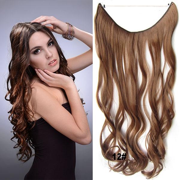 Flip in vlasy - vlnitý pás vlasů - odstín 12