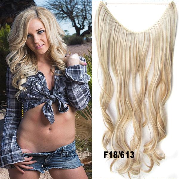 Flip in vlasy - vlnitý pás vlasů - odstín F18/613