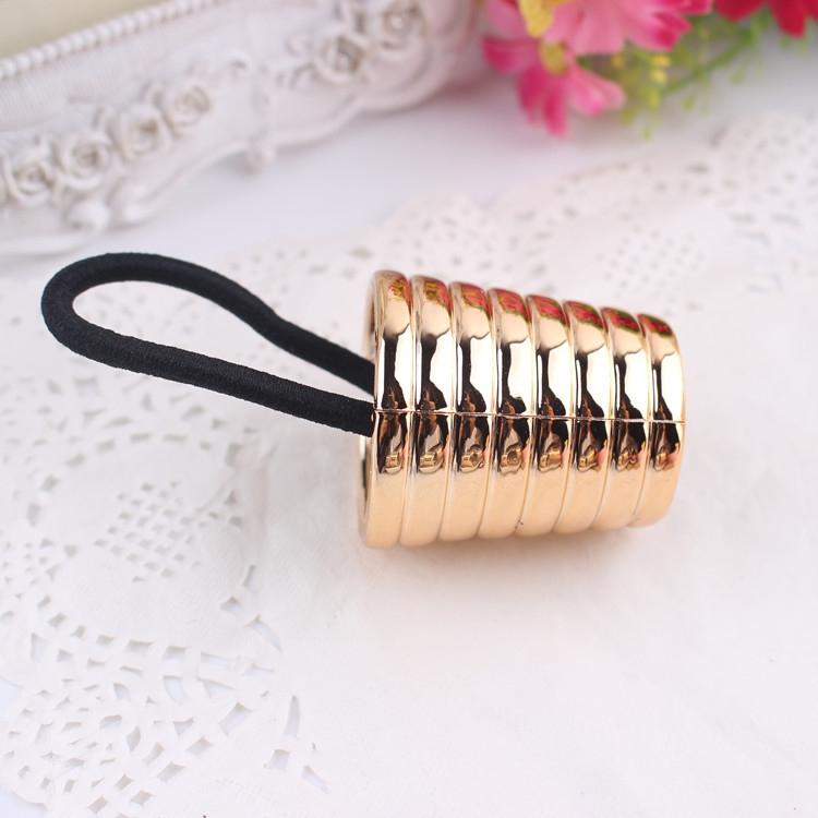 Kovová spona do vlasů Beehive - zlatá barva