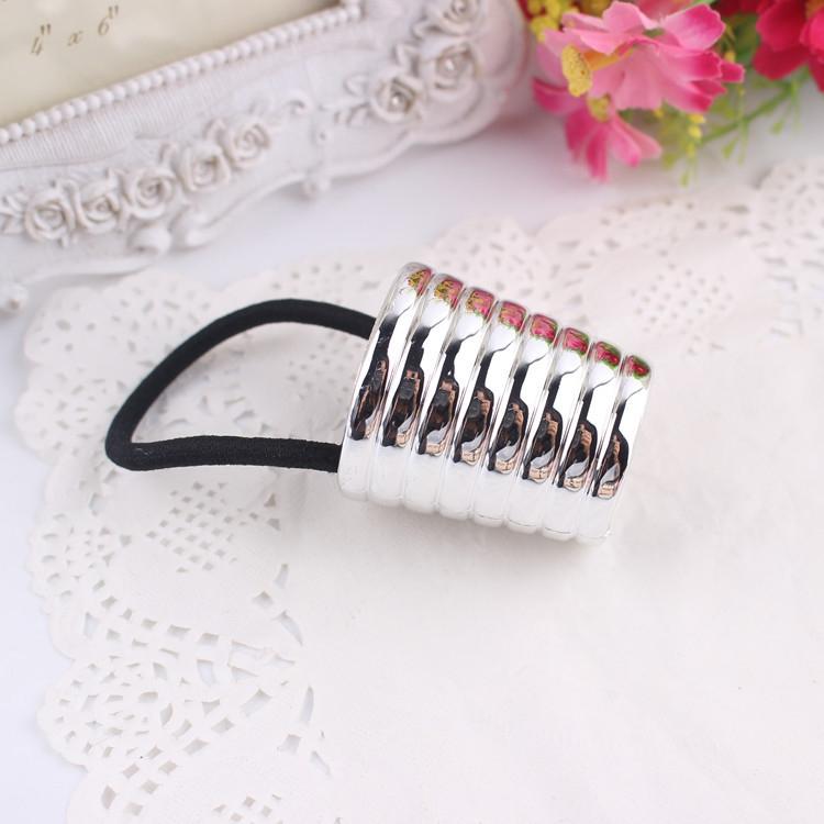 Kovová spona do vlasů Beehive - stříbrná barva