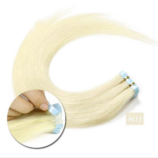 Vlasy k prodloužení TAPE IN - délka 40 cm, odstín 613 - blond