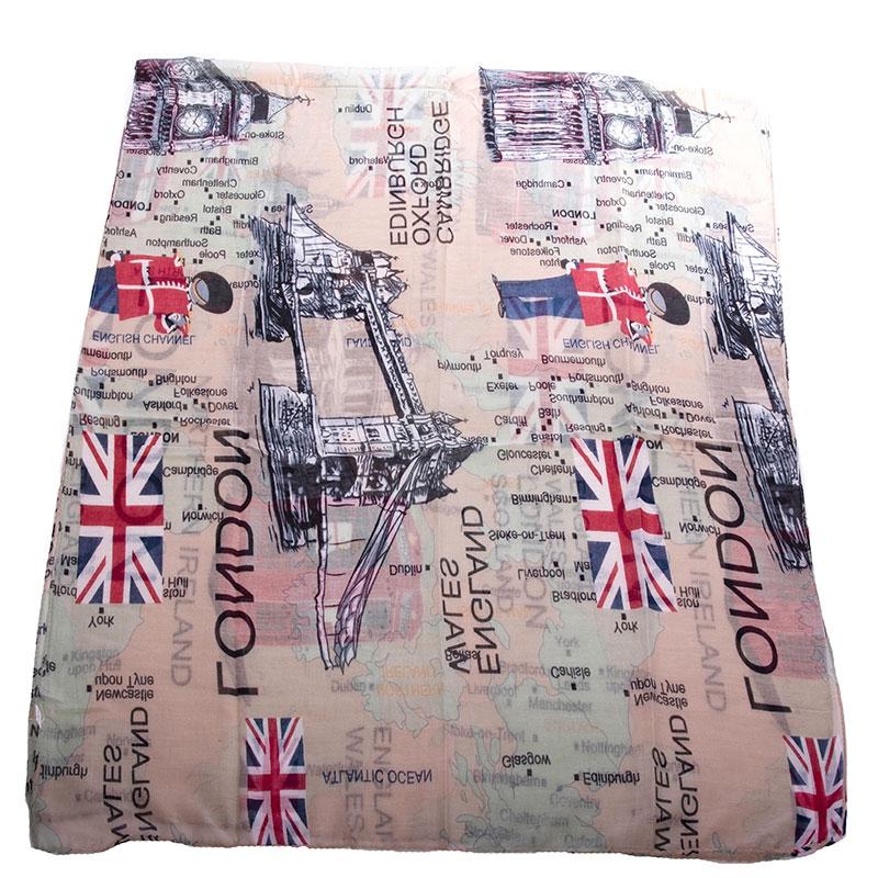 V&V Dámský šátek London - khaki podklad