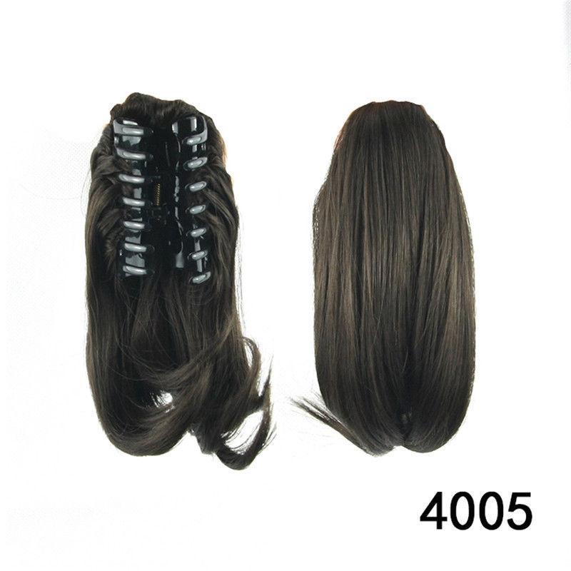 Clip in culík, cop krátký na skřipci - odstín 4005 černohnědý