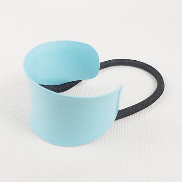 Spona pro tvorbu copu kovová podkova - 8 variant - světle modrá