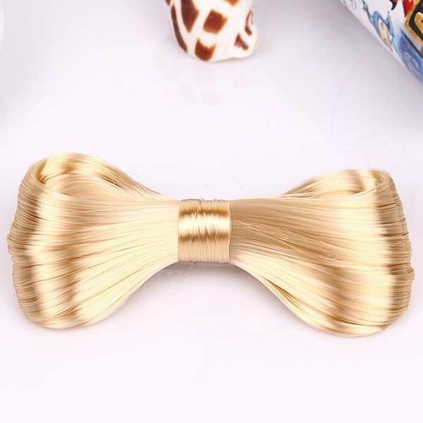 Velká elegantní spona do vlasů s vlasovou mašlí - blond