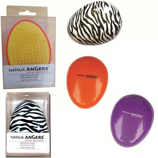 V&V Kartáč na vlasy Egg - rozčesávací (fialový) - V&V