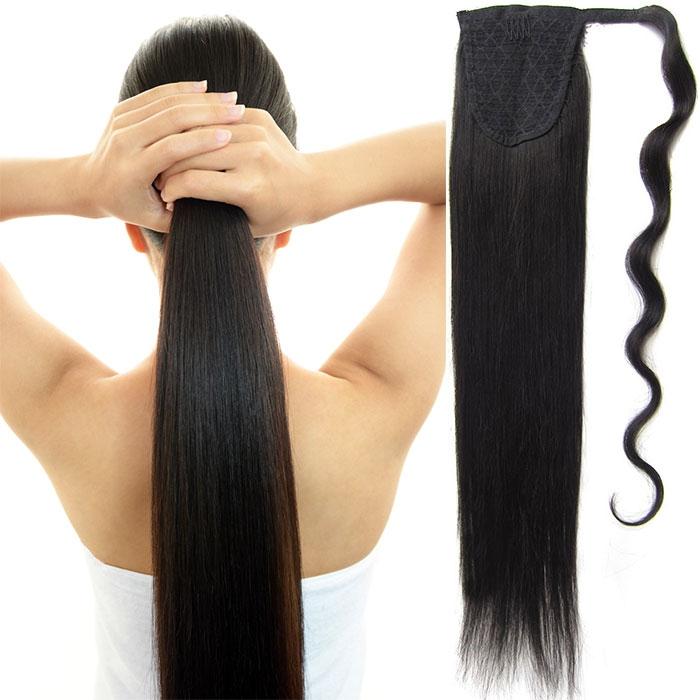 Culík, cop pravé lidské vlasy REMY, 51 cm - odstín 1B