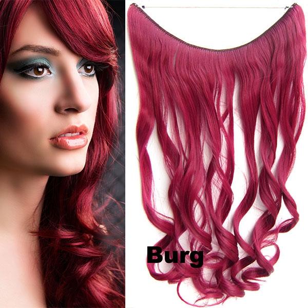 Flip in vlasy - vlnitý pás vlasů - odstín BURG