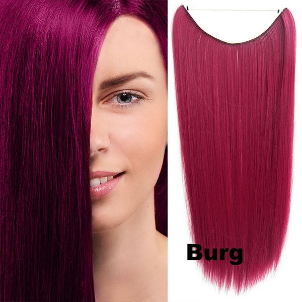 Flip in vlasy - 55 cm dlouhý pás vlasů - odstín BURG - Světové Zboží