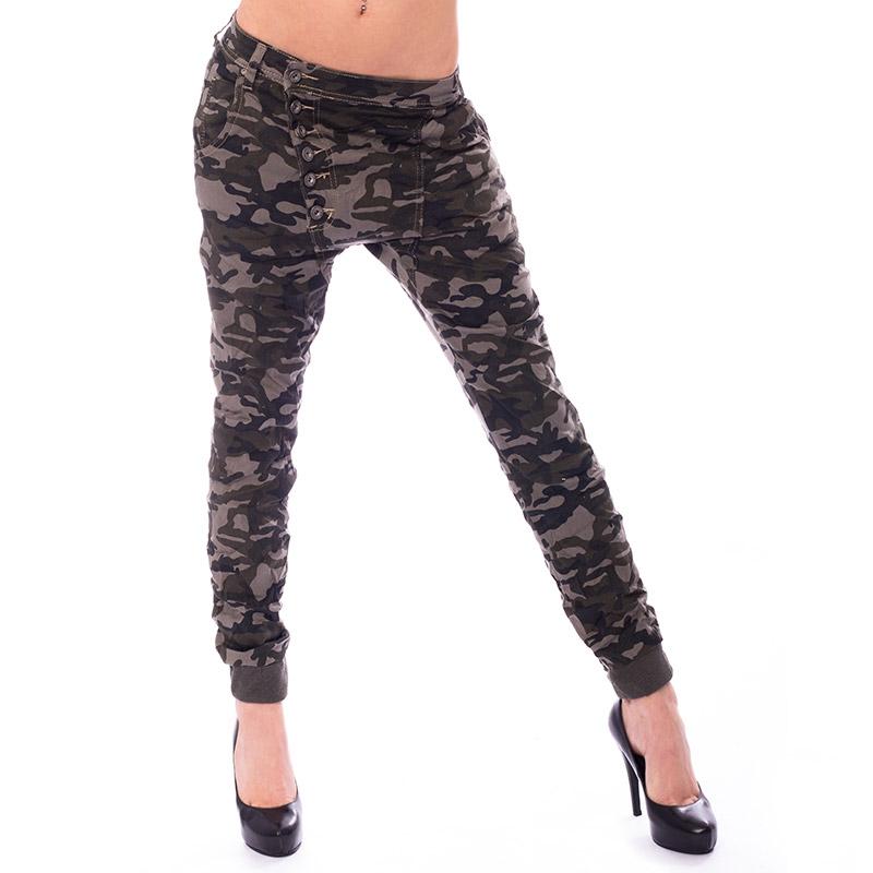 Dámské krčené kalhoty Army Baggy jeans - 27