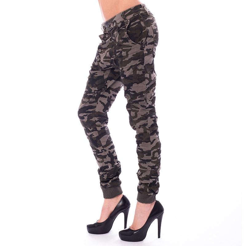 Dámské krčené kalhoty Army Baggy jeans - 28