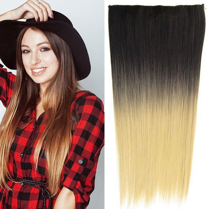 Světové zboží Clip in vlasy - 60 cm dlouhý pás vlasů - ombre styl - odstín 2 T 22 - odstín 2 T 22