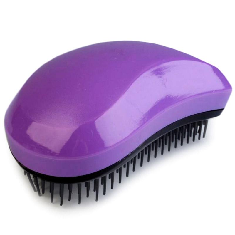 Rozčesávací kartáč na vlasy - fialová barva