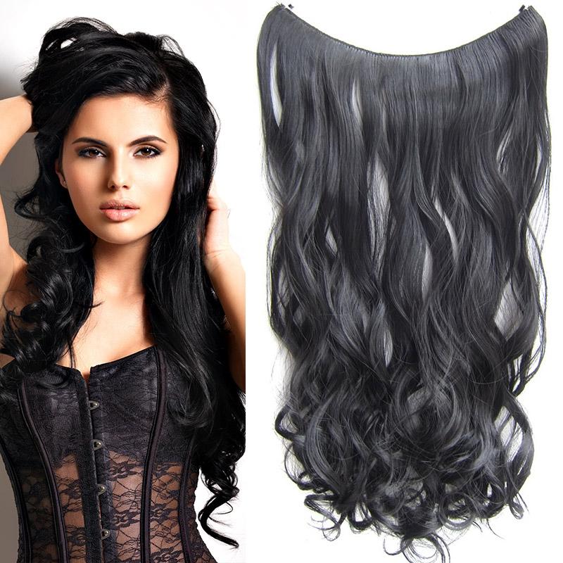 Flip in vlasy - vlnitý pás vlasů 55 cm - odstín 1B