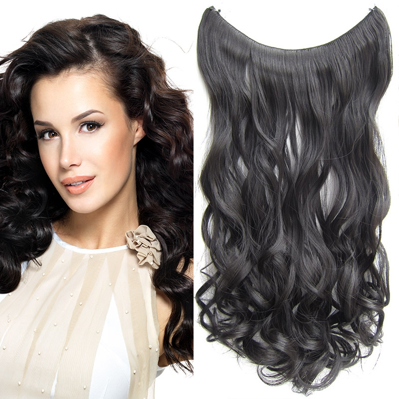 Flip in vlasy - vlnitý pás vlasů 55 cm - odstín 2