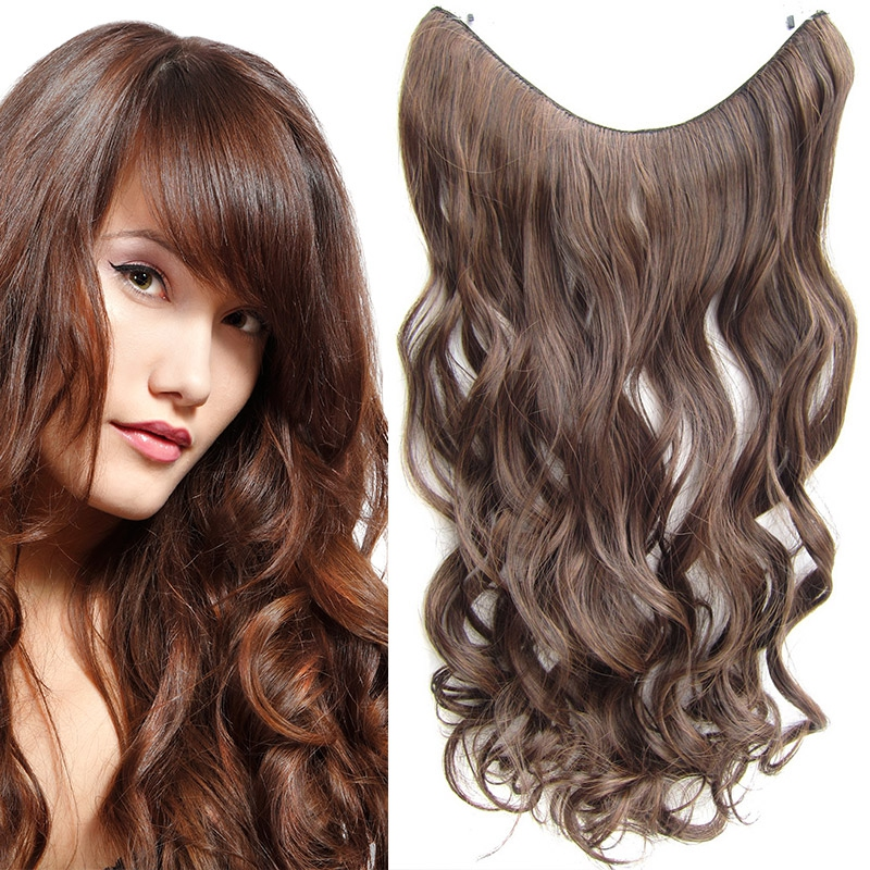 Flip in vlasy - vlnitý pás vlasů 55 cm - odstín M2/30