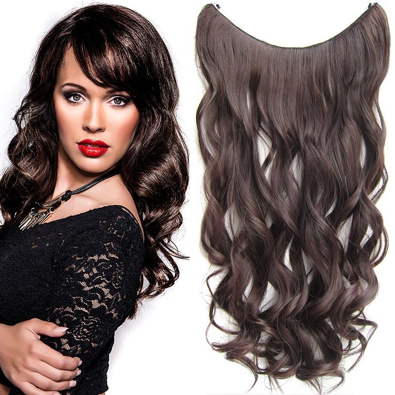 Flip in vlasy - vlnitý pás vlasů 55 cm - odstín M2/33