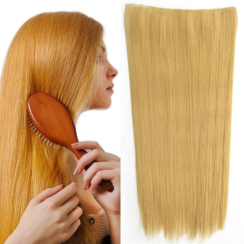 Světové zboží Clip in vlasy - 60 cm dlouhý pás vlasů - odstín 25 - 25 (zlatavě plavá)