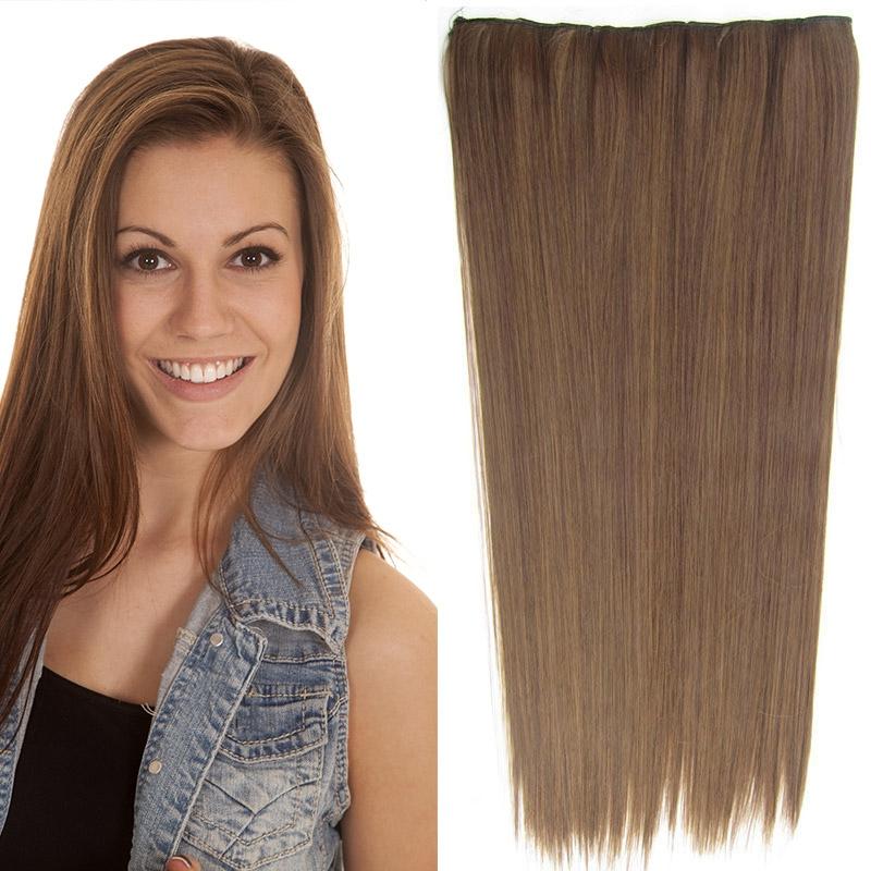 Světové zboží Clip in vlasy - 60 cm dlouhý pás vlasů - odstín M4/27 - M4/27 (mix čokoládově hnědá/karamel)