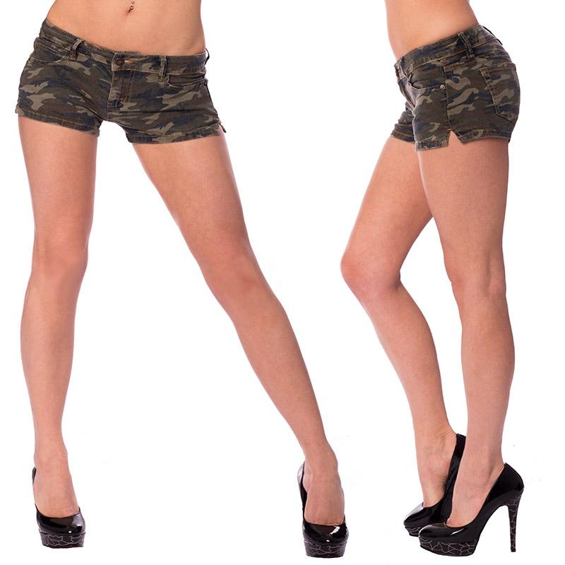 Dámské riflové kraťasy army style - velikost M