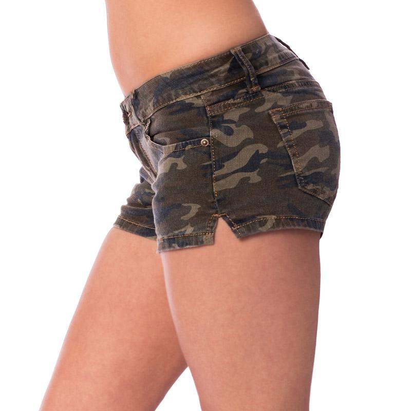 ... Dámská móda a doplňky - Dámské riflové kraťasy army style ... 3f785de6fe