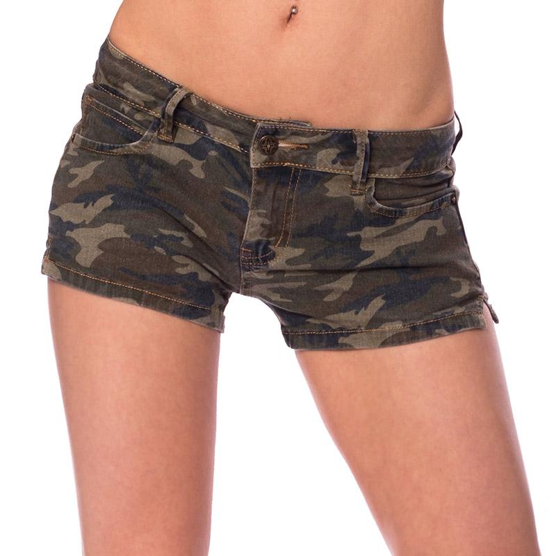 2599f25aed4 ... Dámská móda a doplňky - Dámské riflové kraťasy army style ...