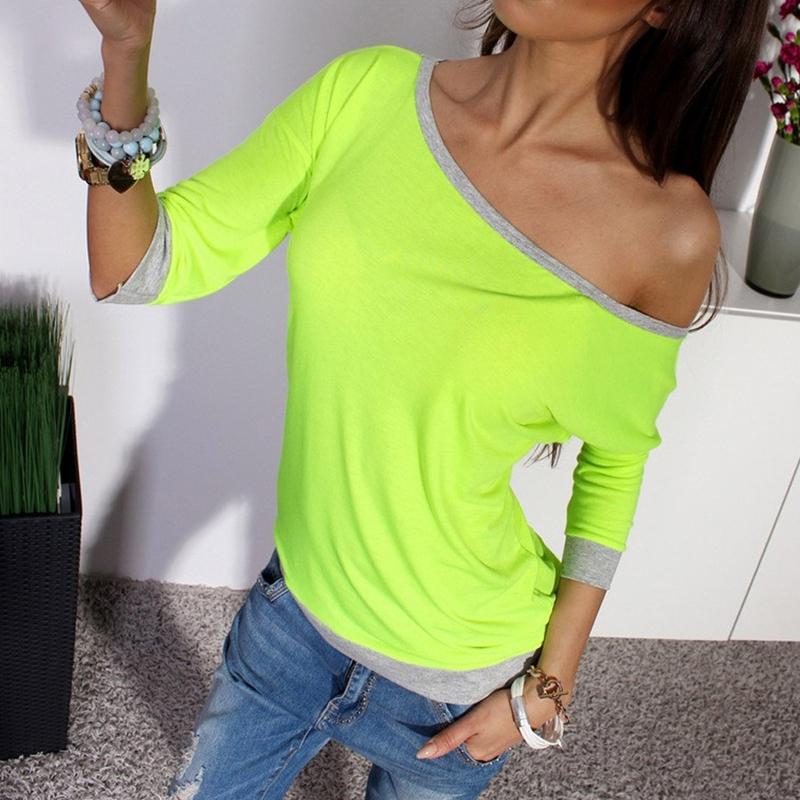 Dámský Top na jedno rameno - zelený - velikost L