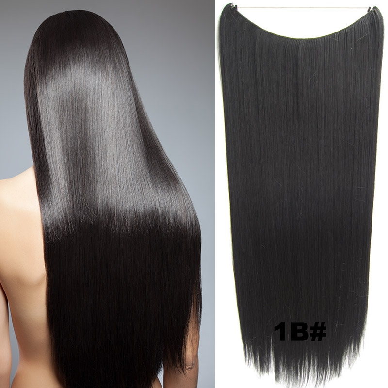 Flip in vlasy - 60 cm dlouhý pás vlasů - odstín 1B